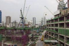 Baustellegebäude im Kapital lizenzfreies stockbild