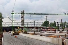Baustelle in der realway Station Lizenzfreies Stockfoto