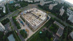 Baustelle in der Stadt stock footage
