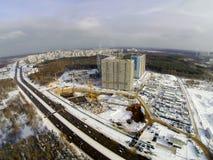 Baustelle in der Stadt Lizenzfreies Stockbild