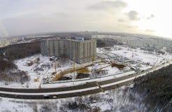 Baustelle in der Stadt Stockfotografie