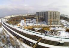 Baustelle in der Stadt Stockbild