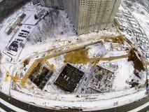 Baustelle in der Stadt Stockfoto