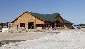 Baustelle der Tankstelle Stockfotos