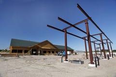 Baustelle der Tankstelle stockbilder