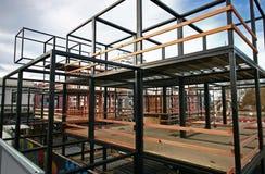 Baustelle des eingepackten Viertels in Christchurch, Neuseeland lizenzfreies stockfoto