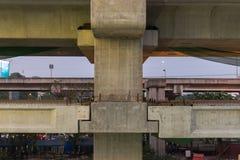 Baustelle des Himmelzugs grenzen Bangsue-Rangsit aus Stockfoto