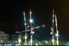 Baustelle des hohen Aufstiegsgebäudes stockfotografie