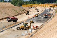 Baustelle einer neuen Straße Lizenzfreies Stockfoto