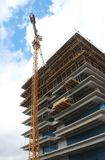Baustelle eines Neubaus Stockbild