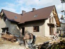 Baustelle eines neuen Hauses lizenzfreies stockbild