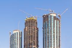 Baustelle eines Wolkenkratzers Stockfotografie