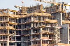 Baustelle eines Wolkenkratzers Stockbilder