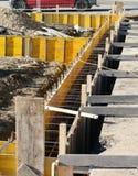 Baustelle für den Bau der Wände des Hauses Lizenzfreie Stockfotos