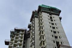 Baustelle in Hong Kong Stockfotos