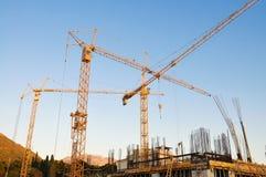 Baustelle, im Entstehen befindliches Werk Stockbild