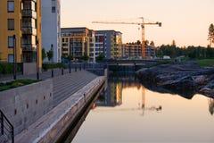 Baustelle im frühen Morgen lizenzfreies stockfoto