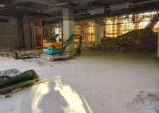 Baustelle innerhalb des Gebäudes Stockfoto