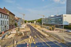 Baustelle Karlsruhe Stockfotografie