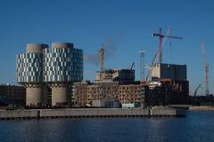 Baustelle in Kopenhagen-Hafen, Dänemark Stockfotografie