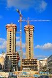 Baustelle-Kräne Stockbild