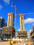 Baustelle-Kräne Stockfoto