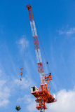 Baustelle mit blauem Himmel Lizenzfreies Stockfoto
