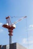 Baustelle mit blauem Himmel Stockfotografie