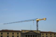 Baustelle mit blauem Himmel Stockfoto