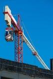 Baustelle mit Kran Lizenzfreies Stockfoto