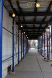 Baustelle mit Lichtern lizenzfreie stockfotografie