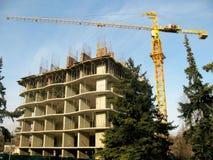 Baustelle mit skeleton Gebäude Lizenzfreie Stockfotografie
