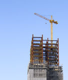 Baustelle mit Turmkran Stockbilder