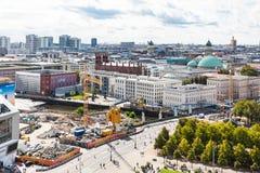 Baustelle in Museumsinsel in Berlin Stockbild