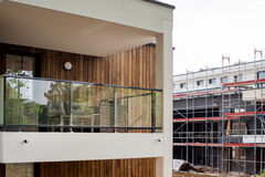 Baustelle newar ein neues Haus Lizenzfreies Stockfoto