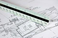 Baustelle-Plan Stockbilder