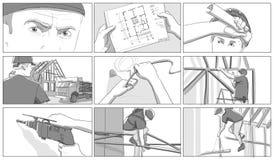 Baustelle Storyboards Lizenzfreies Stockbild