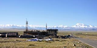 Baustelle in Tibet Lizenzfreies Stockbild
