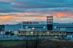 Baustelle in Tychy, Polen lizenzfreie stockfotografie