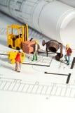 Baustelle und Lichtpause Lizenzfreies Stockbild