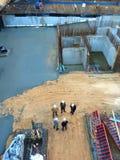 Baustellearbeitskräfte Stockbild