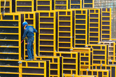 Baustellearbeitskraft Lizenzfreies Stockfoto
