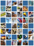 Baustellecollage Stockfoto