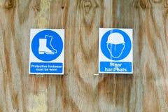 Baustellegesundheits- und -sicherheitszeichen Lizenzfreies Stockfoto