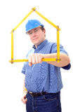 Baustellemanager Stockfotografie