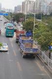Baustellen, Fahrzeuge im Transport Lizenzfreie Stockfotos