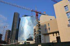 Baustellen in Mailand Stockfotografie
