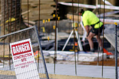 Baustellesicherheit Stockbild