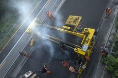 Baustellestraßenarbeiten Stockbilder