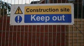 Baustellezeichen Stockfotos